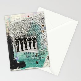 The Dancers - Art Journal page Stationery Cards