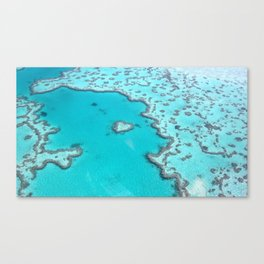 Heart Reef at the Great Barrier Reef Canvas Print