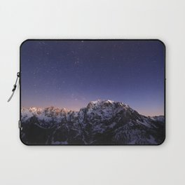 Starry sky above mountains Laptop Sleeve