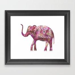 Henna Elephant, Print B Framed Art Print