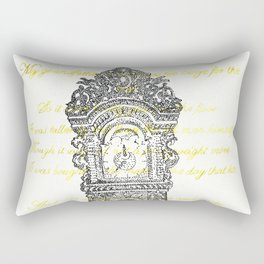 Grandfather clock poem stippling Rectangular Pillow