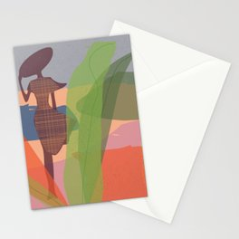 Abstract girl pro Stationery Cards