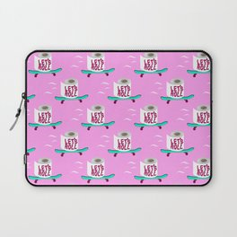 Let's Roll! Pink Laptop Sleeve