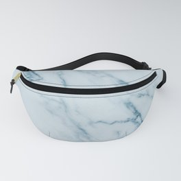 Teal Swirl Marble Fanny Pack