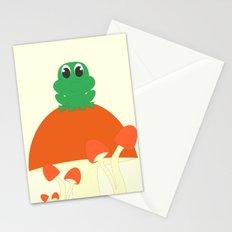 Small frog sitting on mushroom Stationery Cards