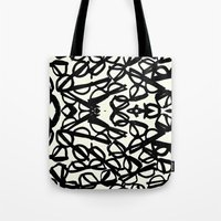 frames Tote Bags featuring Frames by MBJP BLACK LABEL