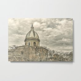 Rome Downtown Architecture Urban Scene Metal Print