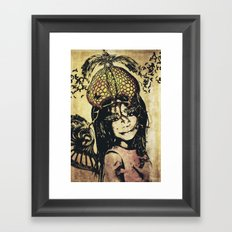 butterly girl Framed Art Print