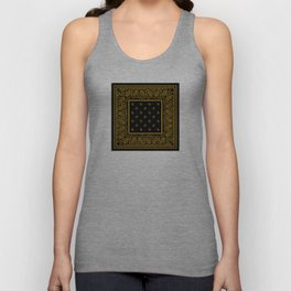 Classic Black and Gold Bandana Unisex Tank Top