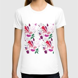 Ornaments  red green on white T-shirt