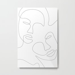 Face Appearance Metal Print
