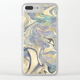 Liquid Gold Mermaid Sea Marble Clear iPhone Case