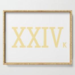 XXIV k Roman numerals (Golden) Serving Tray