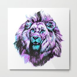 Neon King Metal Print