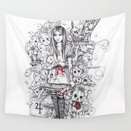 wonderland shattered Wall Tapestry
