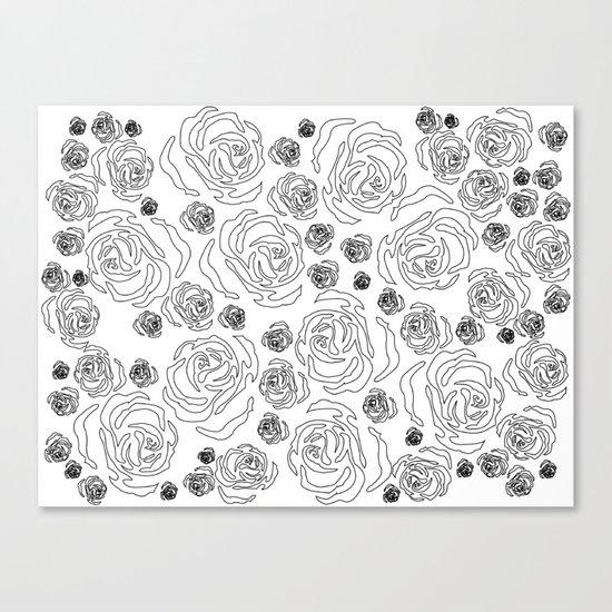 rose repeat Canvas Print