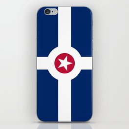 indianapolis city flag united states of america iPhone Skin
