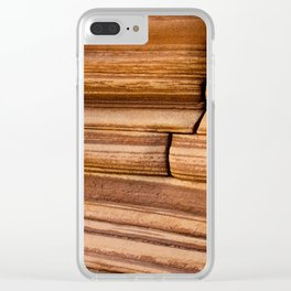 Stairstep crack in the sandstone Clear iPhone Case