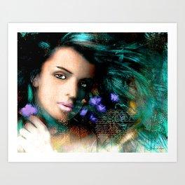 Turquoised Beauty Art Print