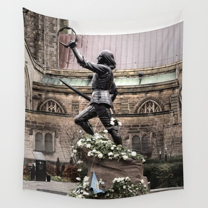 richard the third re burial wall tapestry by linseywilliams society6