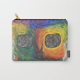 rainbow swirl skull Carry-All Pouch