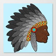 Tribal Chief Canvas Print