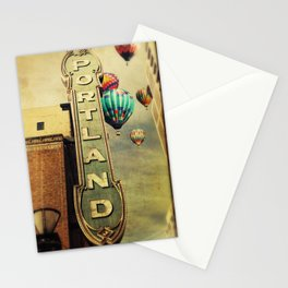 Whimsical Portland Oregon (Hot Air Balloon Ride) Stationery Cards