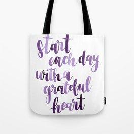 Gratitude Quote Tote Bag