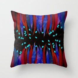 Leaves psychodelica #2 Throw Pillow