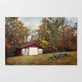 Cromwell Barn in Autumn Canvas Print