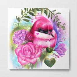 Be Mine Love Bird Metal Print