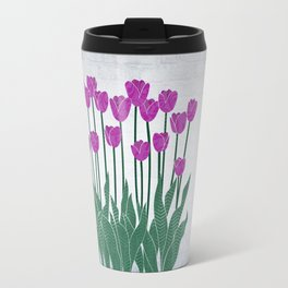 Magenta Tulips Travel Mug