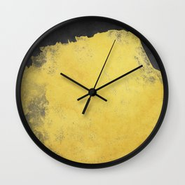 Minimal Landscape Black and Yellow 01 Wall Clock