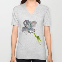 Daffodil Watercolor Unisex V-Neck