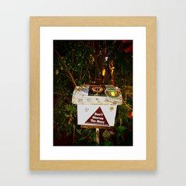 No too ............ Framed Art Print