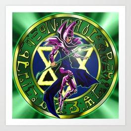 Dark Magician Power Up! Art Print