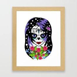 EMO SUGAR SKULL Framed Art Print