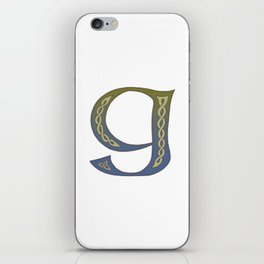 Celtic Knotwork Alphabet - Letter G iPhone Skin