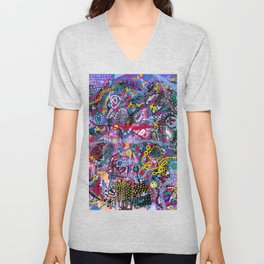 """""""racing thoughts"""" Unisex V-Neck"""