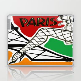 Vintage Paris France Travel Laptop & iPad Skin