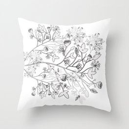 Wild flowers in bloom | The Koze 2018 Spring Collection Throw Pillow