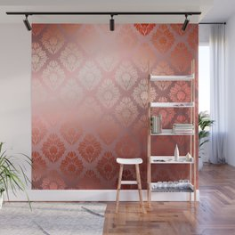 """""""Millennial Pink Damask Pattern"""" Wall Mural"""