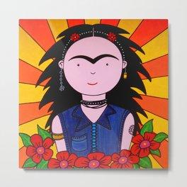 Frida Punk Metal Print