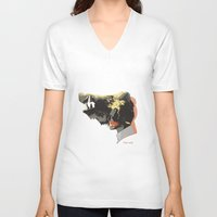hannibal V-neck T-shirts featuring hannibal by 45cave
