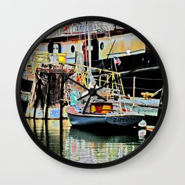 A Harbor view of Coos Bay Wall Clock