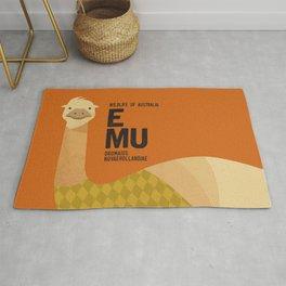 Hello Emu Rug