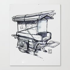 japan wood cart Canvas Print