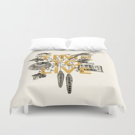Time to live Duvet Cover