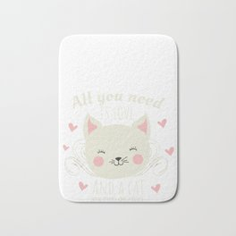 All You Need Is Love And A Cat Or Two...Or Five Cat Lover Bath Mat