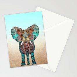 BOHO SUMMER ELEPHANT Stationery Cards